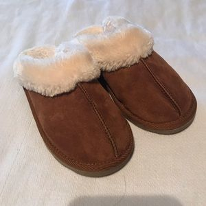 Other - Brown Suede Fleece Lined Slipper/Shoes
